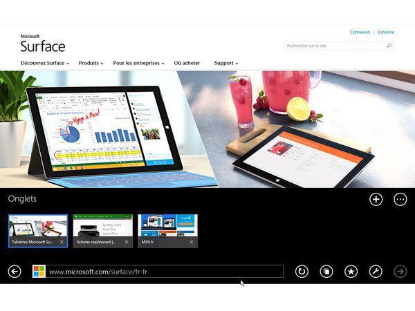 Nouvelle interface d'Internet explorer 12