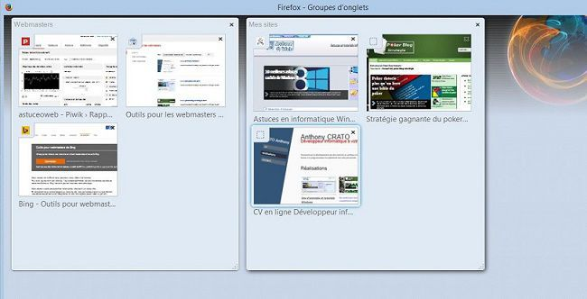 Groupe onglets dans firefox33