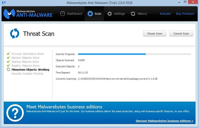 Analyse scan Anti Malware